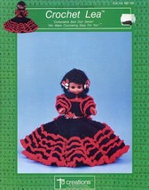 """Crochet Lea 13"""" Bed Doll Outfit Td Creations Pattern/Instructions Leaflet - $4.47"""