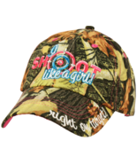 "Camouflage ""Shoot Like a Girl"" Women's Baseball Cap Hat  - $24.99"