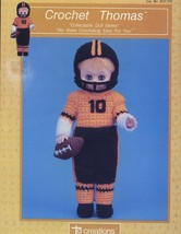 "Football Thomas 13"" Doll Outfit by TD Crochet Pattern/Instructions Leaflet - $1.77"