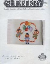 Happy Clowns Sudberry Cross Stitch Pattern Leaflet HTF - $5.37