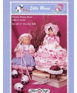 Little Misses Muffet Bo Peep Doll Outfits Fibre Craft Crochet Pattern Le... - $4.47