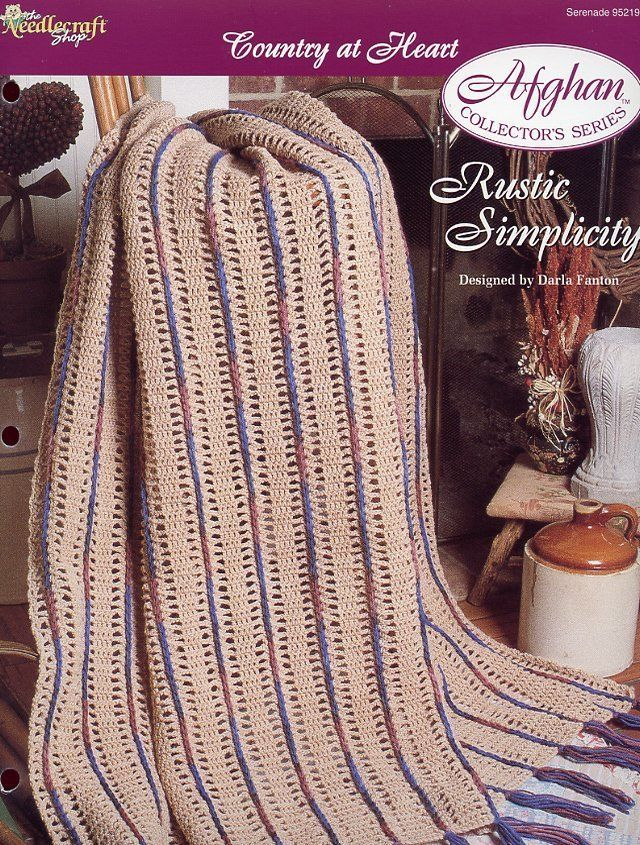 Lady/'s Choice Mile-A-Minute Afghan TNS Crochet Pattern NEW