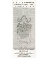 June Barefoot Angels Boehringer Cross Stitch Pattern - 30 Days To Shop &... - $2.67