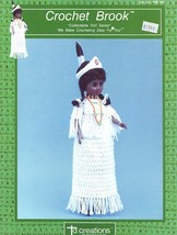 "Brook 15"" Indian Doll Outfit Crochet Pattern Leaflet RARE - $5.37"