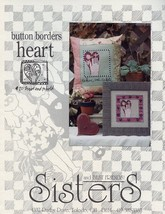 Button Borders Heart Cross Stitch Pattern Sisters - 30 Days To Shop & Pay! - $3.57
