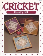 Cricket Country Folk Cross Stitch Pattern Leaflet - 30 Days to Shop & Pay! - $2.67