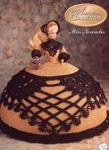 Miss November 1991 Antebellum Bed Doll Outfit fits Barbie Crochet Pattern - $1.77