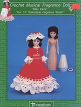 Miss Elena Musical Fragrance Doll Outfit Crochet Pattern Leaflet 30 Days To Pay! - $2.67
