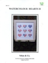 Watercolour Hearts II Sekas & Co. Cross Stitch Pattern - 30 Days To Shop... - $7.17