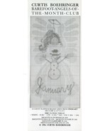 January Barefoot Angels Curtis Boehringer Cross Stitch Pattern -30 Days ... - $2.67