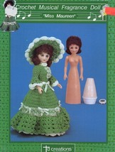 Miss Maureen Musical Fragrance Doll Outfit Td Creations Crochet Pattern Leaflet - $2.67