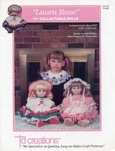 "Laura Rose 19"" Doll Outfits Td Creations Crochet Pattern Leaflet RARE - $8.97"