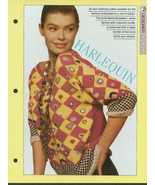 Knitting pattern for ladies eye catching Harlequin pattern sweater riot ... - $1.50