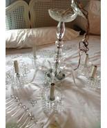 Vintage light fixture Crystal Glass Chandelier ... - $299.99