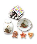 DOLLHOUSE Gingerbread House Decor 1.891/8 Reutter Porcelain Christmas Mi... - $22.75