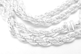 "Sterling Silver 30"" Solid Rope Chain Necklace Long Bright - $89.00"