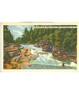 Lower Falls of the Ammonoosuc, White Mountains, NH, unused linen Postcard - $4.99