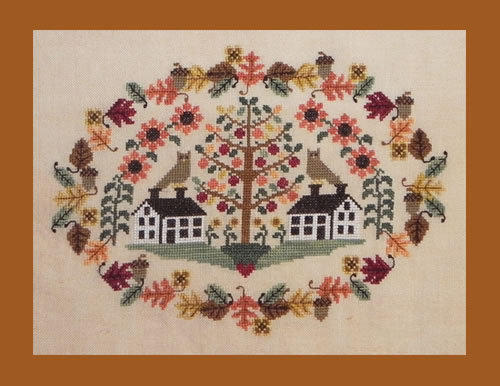 Shaker Valley Harvest cross stitch chart Blue Ribbon Designs