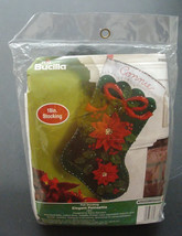 "Bucilla Christmas Poinsettia 18"" Christmas Stocking Felt Applique Kit, 86376 - $32.99"