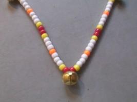 DESERT COBRA ~ HORSE RHYTHM BEADS ~ White, Yellow, Red, Orange ~ Size 54... - $17.00