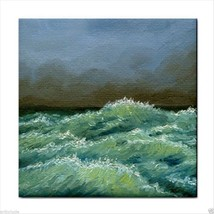 Tile Coaster from original painting art Sea Vie... - $17.99