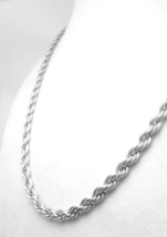 "Sterling Silver 18"" Solid Rope Chain Necklace - $50.00"