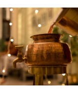 Pure copper Punjabi Handmade water Dispenser, Tamra Jal Water Dispenser set with - $246.00