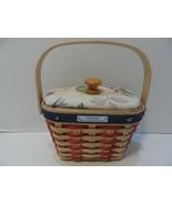 Longaberger 2001 Hostess Appreciation Basket Red White Blue w/cloth lid ... - $19.33