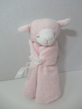Angel Dear plush pink white lamb Baby Security Blanket Lovey knotted toy... - $8.90