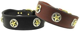 LONE STAR Genuine Leather Dog Collar * Texas Lonestar State Latigo Puppy... - €44,18 EUR+