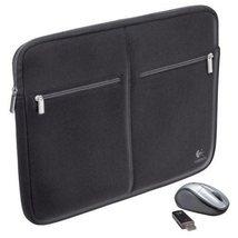 "Logitech 15.4"" Notebook Sleeve and V220 Wireless Mouse - 939-000115 - $748,80 MXN"