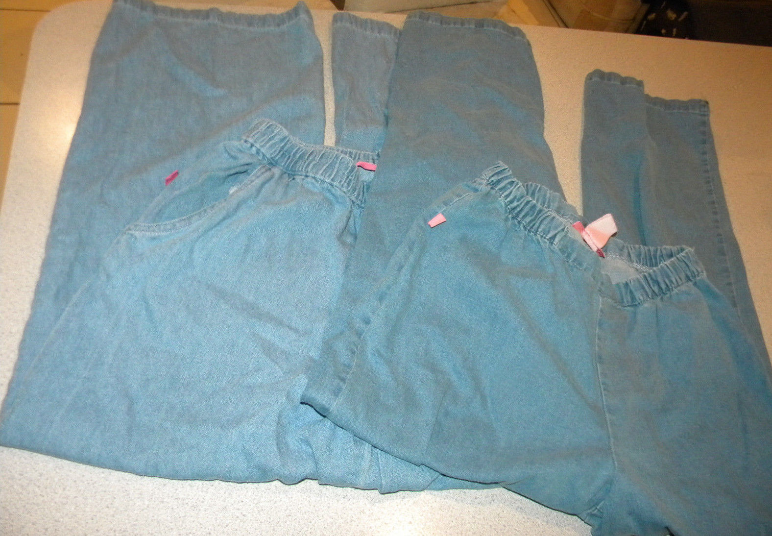 f469f6568b07a4 lot 2 Woman Within Elastic Waist Classic Fit Jeans Pants Plus Size 14W ins  29 - $25.99