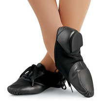Capezio Jazz Mix-Lo Leather Fabric Shoe CP02 Black Womens Size 13.5M Med... - $15.32