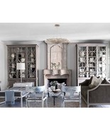 Neiman Marcus Luxe Nierman Weeks Look Horchow Glam Leaf Silver Chandlier... - $740.52