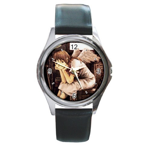 New Hot Rakka Haibane Renmei Manga Anime Leather Watch wristwatch Gift