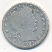 1897-O BARBER SILVER QUARTER-SEMI KEY DATE-NICE CIRCULATED COIN-FREE SHI... - $26.95