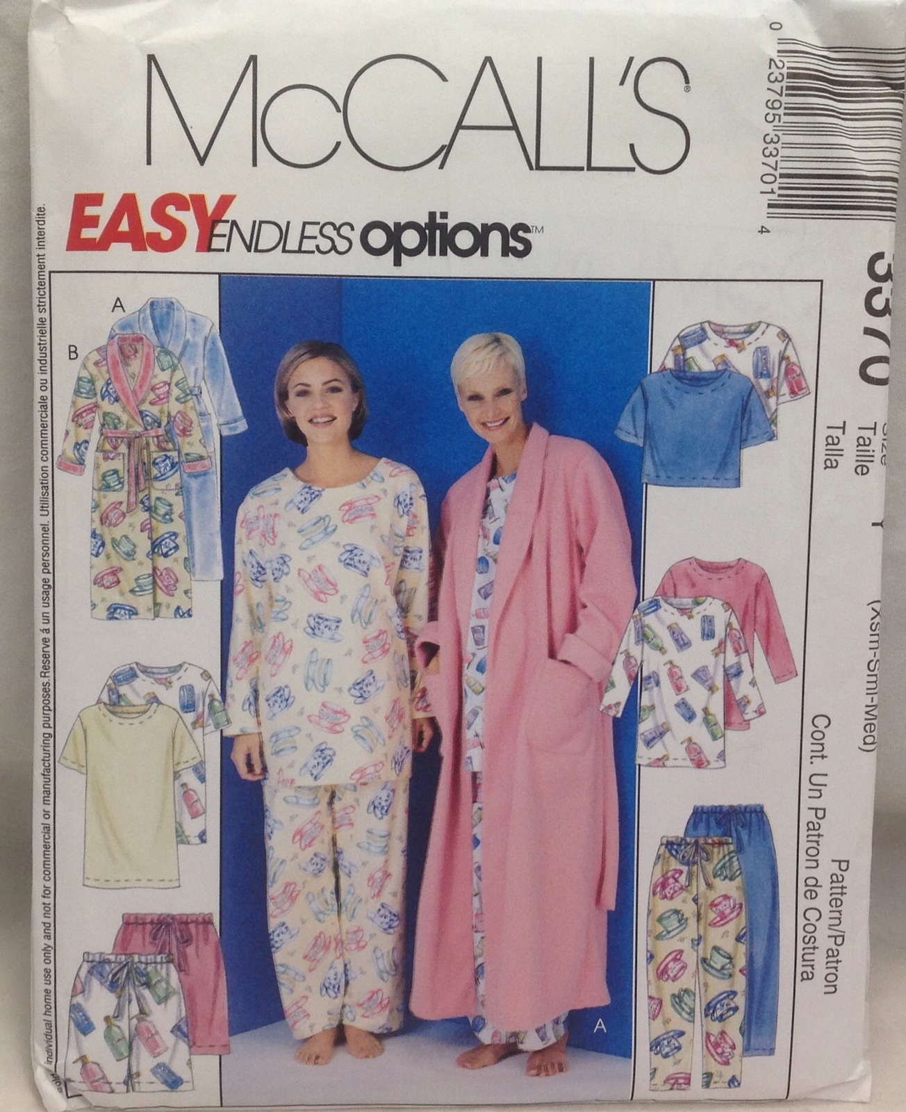 Mccalls Pattern Sleepwear 3370 Sz Y and 21 similar items a25e83d69