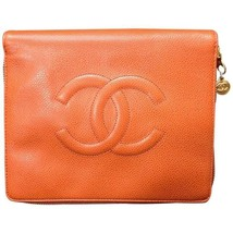 MINT. 90's Vintage CHANEL caviarskin travel and cosmetic case pouch, mini bag in - $922.00