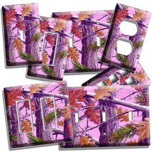 MOSSY TREE OAK LEAVES PINK CAMO CAMOUFLAGE LIGHT SWITCH OUTLET WALL PLAT... - $8.99+