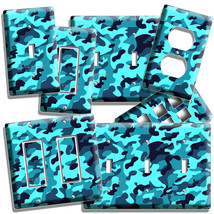 BLUE MILITARY NAVY CAMO CAMOUFLAGE LIGHT SWITCH OUTLET WALL PLATE COVER ... - $8.99+