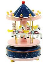 PANDA SUPERSTORE Romantic Merry-Go-Round Clockwork Musical Box Cool Decoration