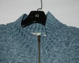 Simply Noelle Brand JCKT222Z Womens Misty Blue Zippered Sweater Jacket Size XXL image 2
