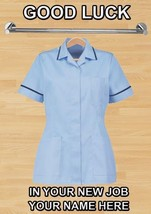 Personalised Card Healthcare uniform Good Luck New Job A5 Greeting Card ... - $3.93