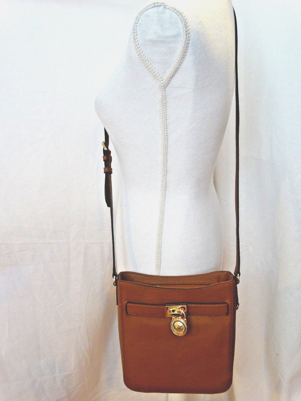 213f989a1fad 57. 57. Previous. Michael Kors Hamilton Traveler Messenger Luggage Leather Crossbody  Bag New