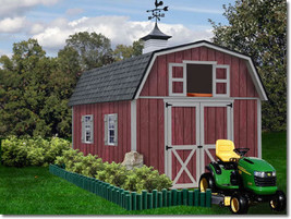 Best Barns Woodville 10x16 Wood Storage Shed Kit - ALL Pre-Cut - $2,796.72