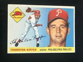 1955 Topps Baseball Card #62 THORNTON KIPPER - Philadelphia Phillies (B) - $3.91