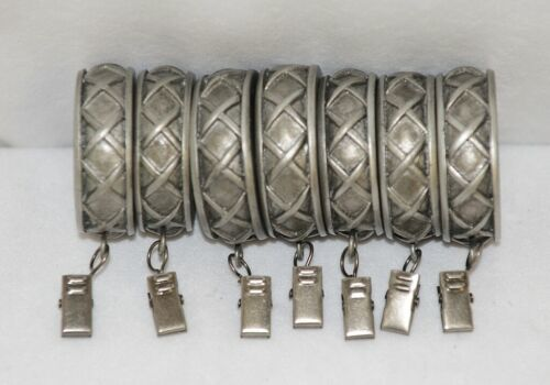Kirsch 60114011 Antique Pewter Cross Pattern Curtain Rings With Removable Clip