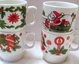 Mid Century Santa Christmas Mugs made in Japan