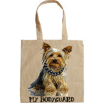 YORKSHIRE TERRIER  MY BODYGUARD -  NEW AMAZING GRAPHIC HAND BAG/TOTE BAG - $16.91