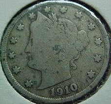Liberty Head Five Cents 1910 VG - $4.41